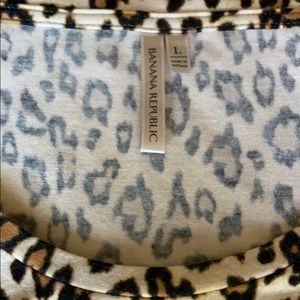 Banana Republic Tops - Banana Republic leopard long sleeve shirt